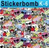 1.52*30m Air Free Bubbles Bomb Sticker
