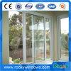 Französisches doppeltes glasig-glänzendes schiebendes Glasaluminiumfenster