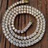 золото 18K одно ожерелье Mjcn056 цепи тенниса диаманта рядка