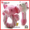 Rosafarbener Elefant-super weiche Plüsch-Kleinkind-Geklapper-Spielwaren für Babys