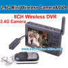8CH 2.4G Wireless Camera Receiver DVR, mit Ein 2.4G Micro Camera, Support 32GB, 640*480, 2.5inch TFT Screen