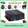 Sistemas de vigilância CCTV em ônibus, caminhões, táxis, carros e outros veículos