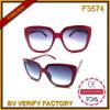 Grandes lunettes de soleil neuves de femmes du bâti F3574