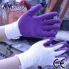 Повелительниц латекса пены полиэфира Nmsafety 13G перчатка пурпуровых мягких садовничая
