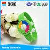 Bracelet vert d'IDENTIFICATION RF de courroie de poignet de silicones d'agrafe