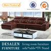 Mobília nova do sofá do couro de grão da parte superior do projeto de Brown (9211)