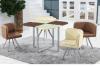 Jogo, tabela de jantar e cadeira de jantar de vidro modernos de venda quentes, mobília da sala de jantar