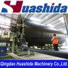 Ligne en plastique d'extrusion de pipe d'enroulement de mur de cavité d'extrudeuse de pipe d'eaux usées de HDPE