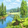 Diamant-Stickerei des Wand-Kunst-Dekoration-schöne Landschaftsdiamant-Farbanstrich-DIY mit preiswertem Preis