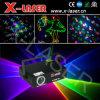 demostración a todo color de la luz del haz luminoso de la etapa del día de fiesta de la luz laser DMX de la animación de 300MW RGB