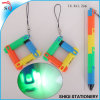 新しいプラスチック多彩なLEDの軽いボールペン
