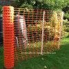 Maglia di plastica della rete fissa/barriera di sicurezza arancione Pjsf104