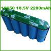18650 batería de litio cilíndrica recargable de 4400mAh 18.5V para el equipamiento médico (