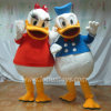 Traje dos desenhos animados do pato de Donald, traje adulto do Natal do pato de Donald do pato de Donald do traje, pato de Donald da mascote do partido, traje
