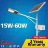 3 años de la garantía del poder más elevado 60W LED de luz de calle solar