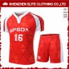 Изготовление Джерси футбола вычуры верхнего качества красное (ELTSJI-2)