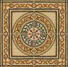 Tegel 1200X1200mm van de Vloer van het Kristal van het Tapijt van het Patroon van de bloem Tegel Opgepoetste Ceramische (BMP24)