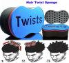 Venta caliente de la torcedura del pelo mágico de la esponja del cepillo para el pelo cepillo de esponja para hombres Negro