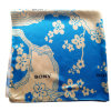 Digital-Drucken-Polyester-Satin-Schals mit blauen Blumen