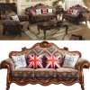 Sofa avec les Modules en bois de Tableau pour les meubles de salle de séjour (532)