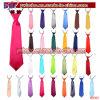 Noce élastique de cravate de relation étroite de collet de satin ordinaire solide de gosses de garçons d'enfants (B8062)