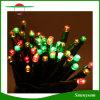 100 LED-bunte Feiertags-Zeichenkette-Licht-Sonnenenergie-Licht-Fühler-feenhafte Weihnachtsfestival-Partei-Weihnachtsdekorative Zeichenkette-Lichter imprägniern