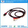 텔레비젼을%s 3RCA 오디오 케이블에 고속 1.4V HDMI