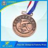Medallón de cobre antiguo modificado para requisitos particulares barato del metal para el recuerdo con la cinta (XF-MD23)