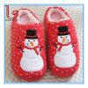 クリスマスの冬の暖かい綿の世帯のプラシ天のスノーマンのスリッパのカップルのスリッパの靴