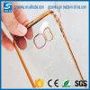 La galjanoplastia de goma cristalina al por mayor Anti-Rasguña la caja suave clara del teléfono de TPU cabida para la nota 4 de la galaxia de Samsung