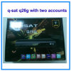Q-Sat Q26g HD GPRS Decoder mit Encrypted Channels für Afrika