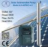 pompe solaire submersible centrifuge de l'acier inoxydable 4sp8/21-4.0
