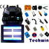 Digital-Faser-Filmklebepressen Techwin TCW-605 Fusao De Fibra Optica Faser-Optikkabel-Filmklebepresse