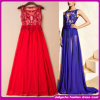 2015 neues Sexy Long Tight Waist Lace und Quality Chiffon- Dress Maxi Luxury PROM Satin Women Evening Dresses (C-163)