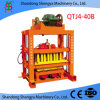 작은 Manual Cement Block 또는 아프리카에 있는 Brick Making Machine Qtj4-40b