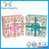 Kundenspezifischer Papiergeschenk-Kasten, der mit Farbband verpackt