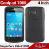 元のCoolpad 7060 3Gデータ2SIM 4インチIPSのアンドロイド4.1の安い携帯電話