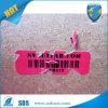 Etiqueta engomada de papel destructiva de la seguridad evidente del pisón
