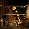 Luz clara ao ar livre do motivo da decoração da esfera do Natal do diodo emissor de luz