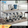 Het Schilderen van de luxe de Zilveren Eettafel van het Roestvrij staal