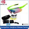 매우 거친 Tr90 프레임은 5개의 보충 렌즈를 가진 렌즈 자전거 승차 주기 색안경을 반대로 긁는다