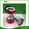 Indicatore luminoso di campeggio solare portatile d'escursione esterno della lanterna della lampada solare multifunzionale 6 LED con la carica e la radio del telefono mobile