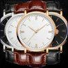 Yxl-406 선전용 신식 석영 시계 Mens 시계 형식 가죽 스테인리스 손목 시계 도매