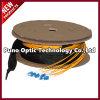 Куртка кабеля LC-LC однорежимным Pre-Прекращенная оптическим волокном желтая