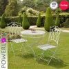 Vector plegable del jardín muy Niza del metal redondo blanco antiguo y de interior y al aire libre usados silla