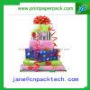 Rectángulo de empaquetado hermoso de encargo del rectángulo de regalo del papel de la cinta