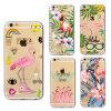 Caso ultra fino de la impresión TPU de los pájaros de la cubierta de la caja del teléfono celular para el iPhone 7 más 6 más