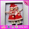 2017 Speelgoed W02A238 van Kerstmis van de Jonge geitjes van Doll van nieuwe Producten het Mooie Houten