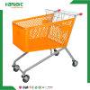 chariot en plastique de chariot à achats du supermarché 210L