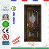 純木の材木のドアの木のガラスドア